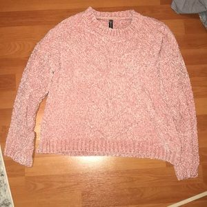NWOT Chenille Front Detail Sweater